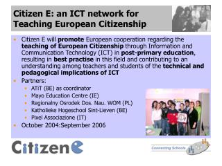 Citizen E: an ICT network for  Teaching European Citizenship