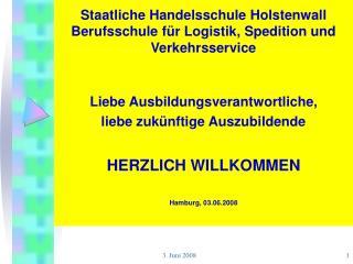 Staatliche Handelsschule Holstenwall Berufsschule für Logistik, Spedition und Verkehrsservice