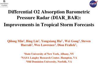 Differential O2 Absorption Barometric Pressure Radar (DIAR_BAR):