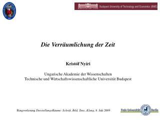 Ringvorlesung  DarstellungsRäume: Schrift, Bild, Tanz, Klang , 8. Juli 2009