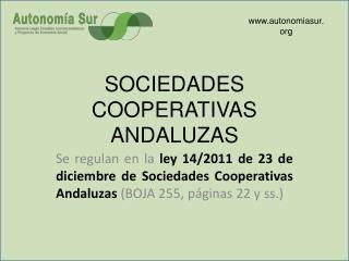 SOCIEDADES COOPERATIVAS ANDALUZAS