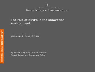 The role of NPO s in the innovation environment