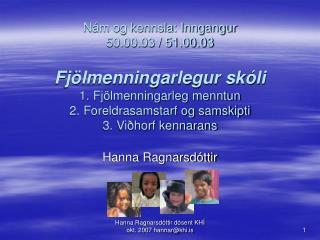 Hanna Ragnarsdóttir