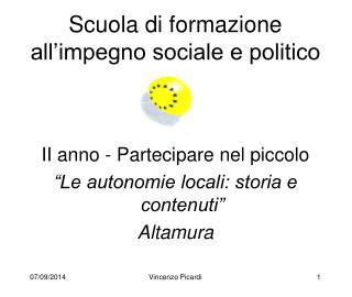 Scuola di formazione all'impegno sociale e politico