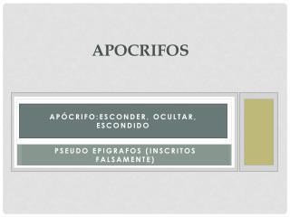 APOCRIFOS