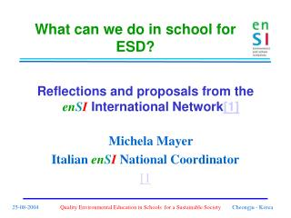 What can we do in school for ESD?