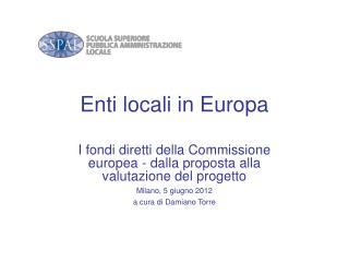 Enti locali in Europa