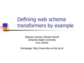 Defining web schema transformers by example