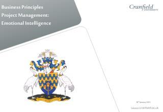 Business Principles Project Management: Emotional Intelligence