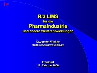 SAP R/3-System mit integriertem LIMS