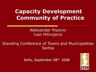 Capacity Development Community of Practice