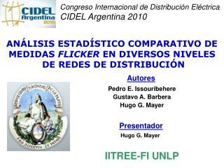 Congreso Internacional de Distribución Eléctrica CIDEL Argentina 2010
