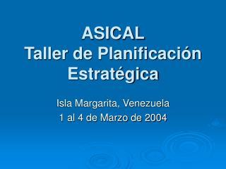 ASICAL Taller de Planificación Estratégica