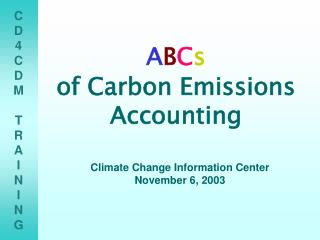 ABCs  of Carbon Emissions Accounting