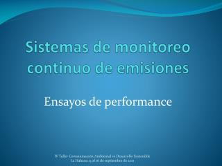 Sistemas de monitoreo continuo de emisiones