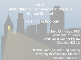 2010 SAAS National Conference and NIATx Annual Summit