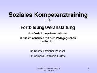 Soziales Kompetenztraining II   10.