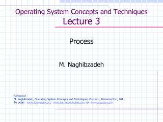 Operating System Concepts and Techniques  Lecture 3