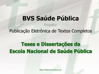 BVS Saúde Pública