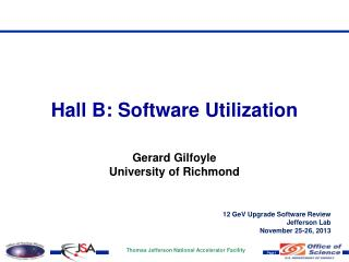 Hall B:  Software  Utilization