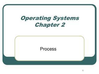 Operating Systems Chapter 2