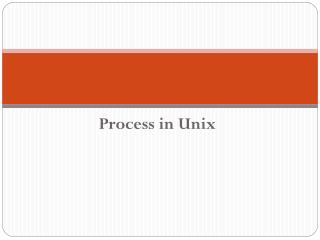 Process in Unix