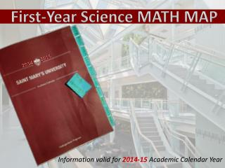 First-Year Science MATH MAP