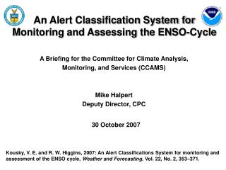 An Alert Classification System for  Monitoring and Assessing the ENSO-Cycle