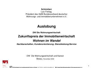 DW  Die Wohnungswirtschaft und Aareon  Bosau,  November 2006