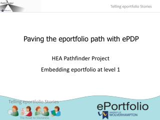 Paving the eportfolio path with ePDP