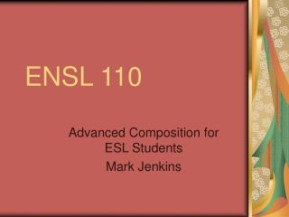 ENSL 110