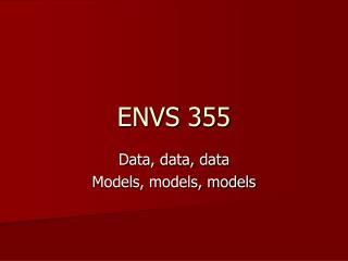ENVS 355