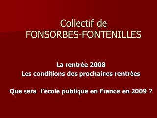 Collectif de  FONSORBES-FONTENILLES