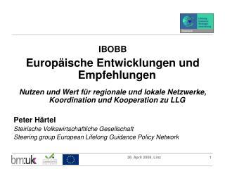 IBOBB Europäische Entwicklungen und Empfehlungen