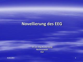 Novellierung des EEG