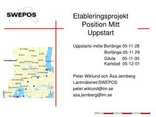 Etableringsprojekt  Position Mitt Uppstart