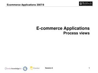E-commerce Applications Process views