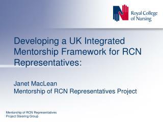 Mentorship of RCN Representatives Project Steering Group