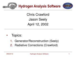Hydrogen Analysis Software