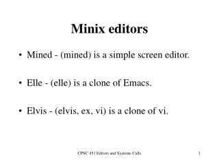 Minix editors