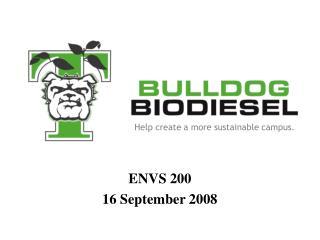 ENVS 200 16 September 2008