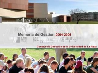 Consejo de Direcci�n de la Universidad de La Rioja