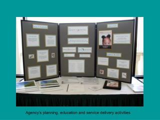 Agency s planning, education and service delivery activities