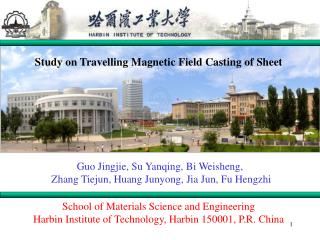 Study on Travelling Magnetic Field Casting of Sheet