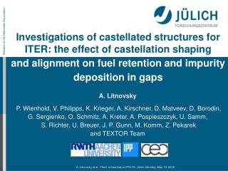 Investigations of castellated structures for ITER: the effect of castellation shaping