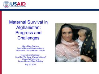 Maternal Survival in Afghanistan: Progress and Challenges