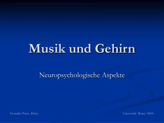 Musik und Gehirn