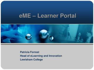 eME  � Learner Portal
