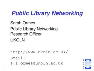 Public Library Networking