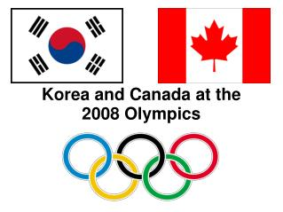 Korea and Canada at the 2008 Olympics